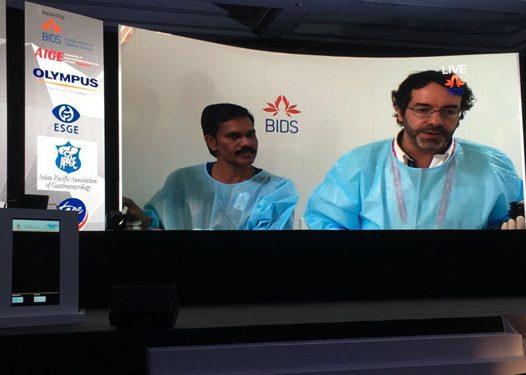 Dr. Julio Iglesias-Garcia at the Asian EUS Congress 2017, Mumbai, 7-9 September 2017.